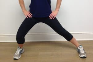 standing groin stretch