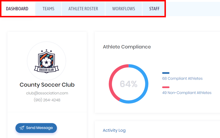 SportGait Club compliance preview